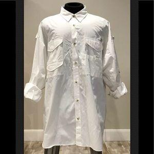 Columbia Vented Mens Fishing Shirt White Sz XXL